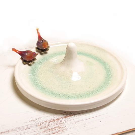 Bird bath ring dish
